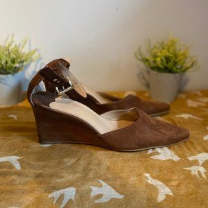 Franco Sarto Brown Suede leather wedges  size 10